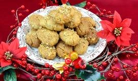 Greek traditional Christmas desserts, melomakarona Stock Image