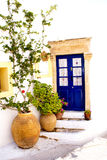 Greek traditional house. Located at Kithira island Stock Images