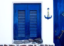 Greek traditional house exterior Stock Photos