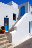 Greek traditional house at Santorini Stock Image