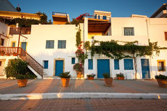 Greek traditional houses in Crete. Royalty Free Stock Photography