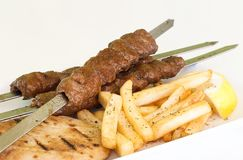 Greek traditional kebab specials. Ready to serve Stock Photos