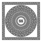 Greek traditional meander border set. Vector antique frame pack. Decoration element patterns in black and white colors. Ethnic col. Greek Ornament art Greek Stock Photo