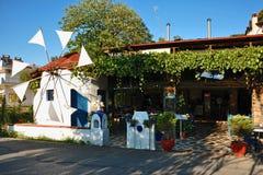 Greek traditional restaurant Stock Photo