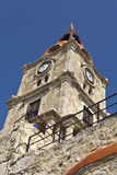 Greek traditional steeple at Rhodes. Island stock images