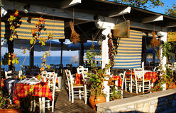 Greek traditional tavern. A greek traditional tavern at Chalkidiki stock photo