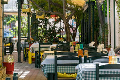 Greek traditional tavern. On the street of Chalkidiki, Greece Stock Photography