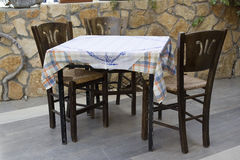 In a greek traditional taverna Stock Photography