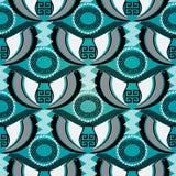 Greek tribal vector seamless pattern. Abstract geometric ornamental ornate background. Creative design. Geometry shapes, zigzag, stripes, lines, mandalas Royalty Free Stock Photos