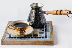 Greek Turkish Coffee Stock Photography