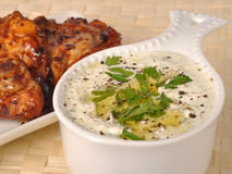 Greek tzatziki grilled chicken Royalty Free Stock Photography
