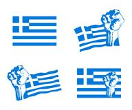 Greek uprising vector set Royalty Free Stock Photography