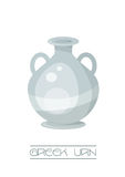 Greek Urn. Classical style Greek Urn, Glossy style in grey tones. EPS10 vector format Stock Image