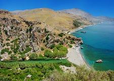 Greek vacation spreveli beach Stock Photography