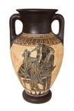 Greek vase. Decorated greek vase isolated on white background Royalty Free Stock Photos