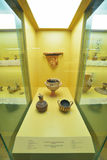 Greek vases in museum of Acropolis in Athens, Greece Royalty Free Stock Photography