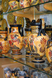 Greek vases, souvenirs in Plaka, Athens Stock Image