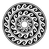Greek vector mandala, Ancient round meander art in circle isolated on white Royalty Free Stock Photos