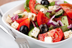 Greek vegetable salad Stock Photos