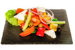 Greek  Vegetable Salad with Feta or Goat Cheese. Stock Images