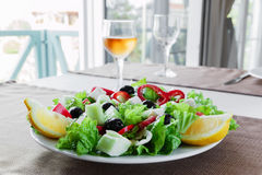 Greek vegetable salad Royalty Free Stock Image