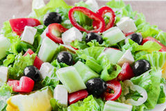 Greek vegetable salad Stock Photography