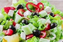 Greek vegetable salad Stock Photography