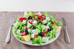 Greek vegetable salad Stock Image