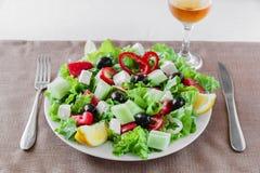 Greek vegetable salad Royalty Free Stock Image
