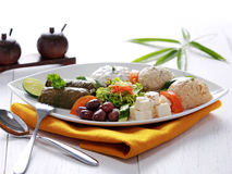 Greek vegetarian food mix pikilia Stock Images