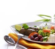 Greek vegetarian food mix pikilia Royalty Free Stock Image