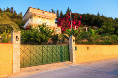 Greek villa Stock Images