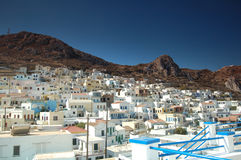 Greek village. Menetes Greek village on the island of Karpathos in the Mediterranean Royalty Free Stock Photo