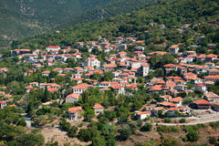 Greek village Stock Photo