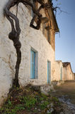 Greek village. Image shows a narrow road in a Greek village Royalty Free Stock Photography