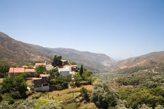 Greek village. A small greek village on mountains, Crete Stock Photos