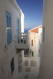 Greek Village. Narrow street of a Greek Village Royalty Free Stock Photo