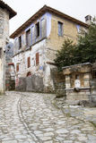 Greek Village Alley Royalty Free Stock Photography