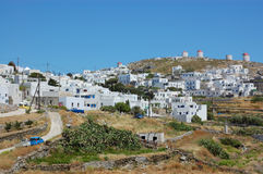 Greek village, amorgos Royalty Free Stock Photos