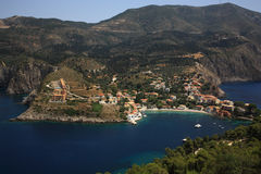 Greek village of Assos Royalty Free Stock Photo
