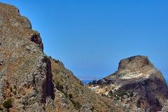 Greek village on the hillside Stock Photography