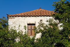 Greek Village House Stock Image