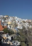 Greek Village, Ioa, Santorini Royalty Free Stock Photos