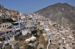 Greek village on karpathos island Royalty Free Stock Photos