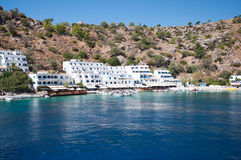 Greek village Loutro Stock Photo