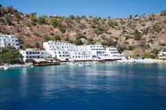 Greek village Loutro Stock Photo