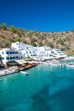 Greek village Loutro Royalty Free Stock Photos