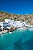 Greek village Loutro Royalty Free Stock Photos