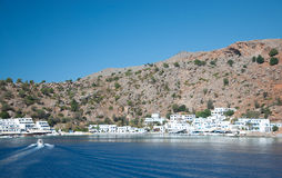 Greek village Loutro Stock Image