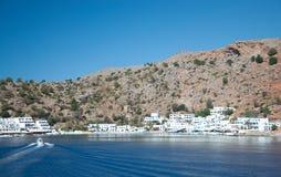 Greek village Loutro Stock Image